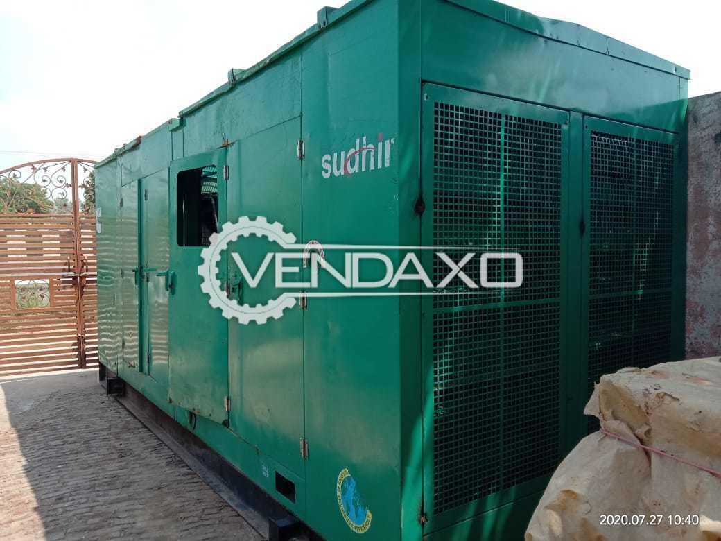 Cummins Sudhir KTA-19 Diesel Generator - 500 Kva, 2003 Model