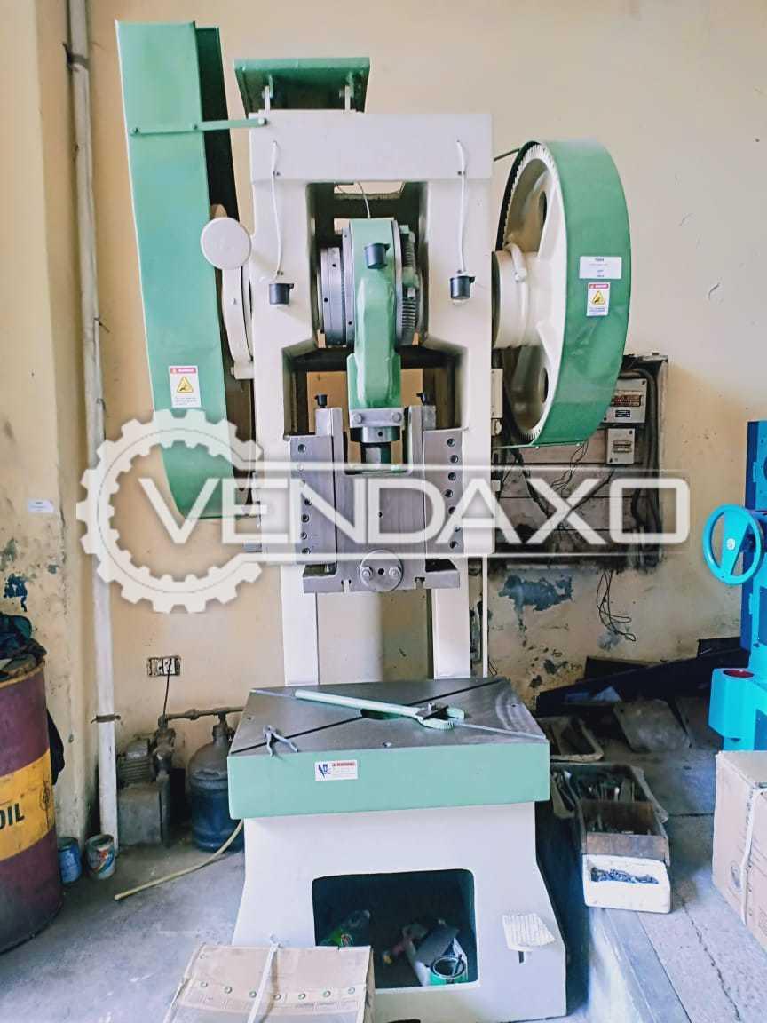 Indian Make C Frame Mechanical Power Press Machine - 80 Ton