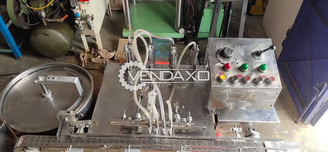 For Sale Used Vial/Bottle Filter Press Machine - 2 to 20 ML