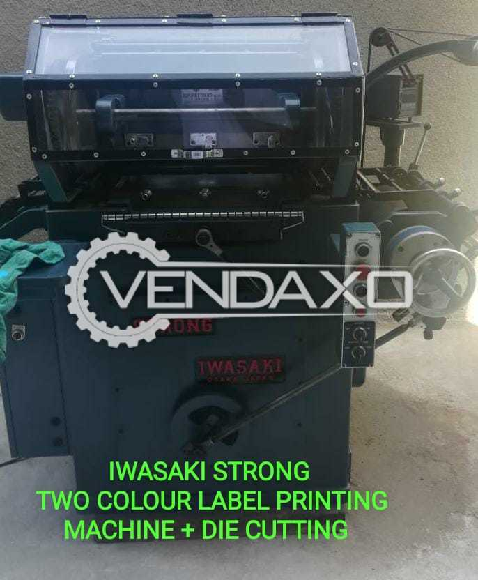 Iwasaki Strong Label Printing Machine - 2 Color With Die Cutting Machine