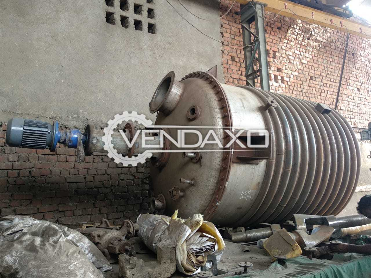 For Sale Used SS 304 Reactor - 5 KL