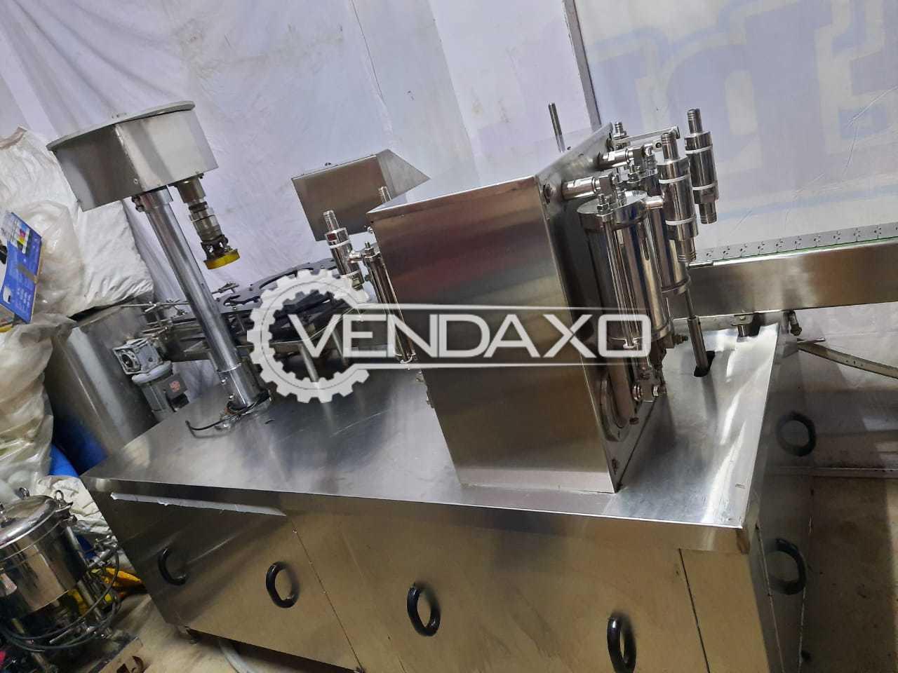 Liquid Filing Machine - 1 Liter With Scrue Caping & Filter Press Machine