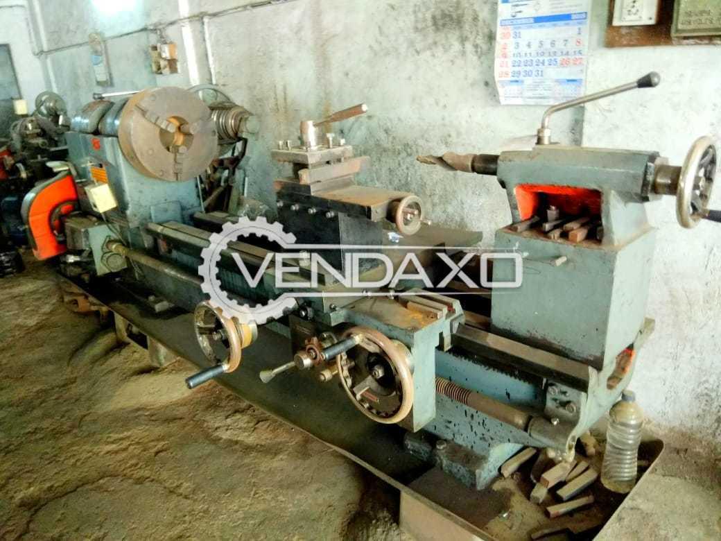 Indian Make Lathe Machine - Bed Length - 2 Meter