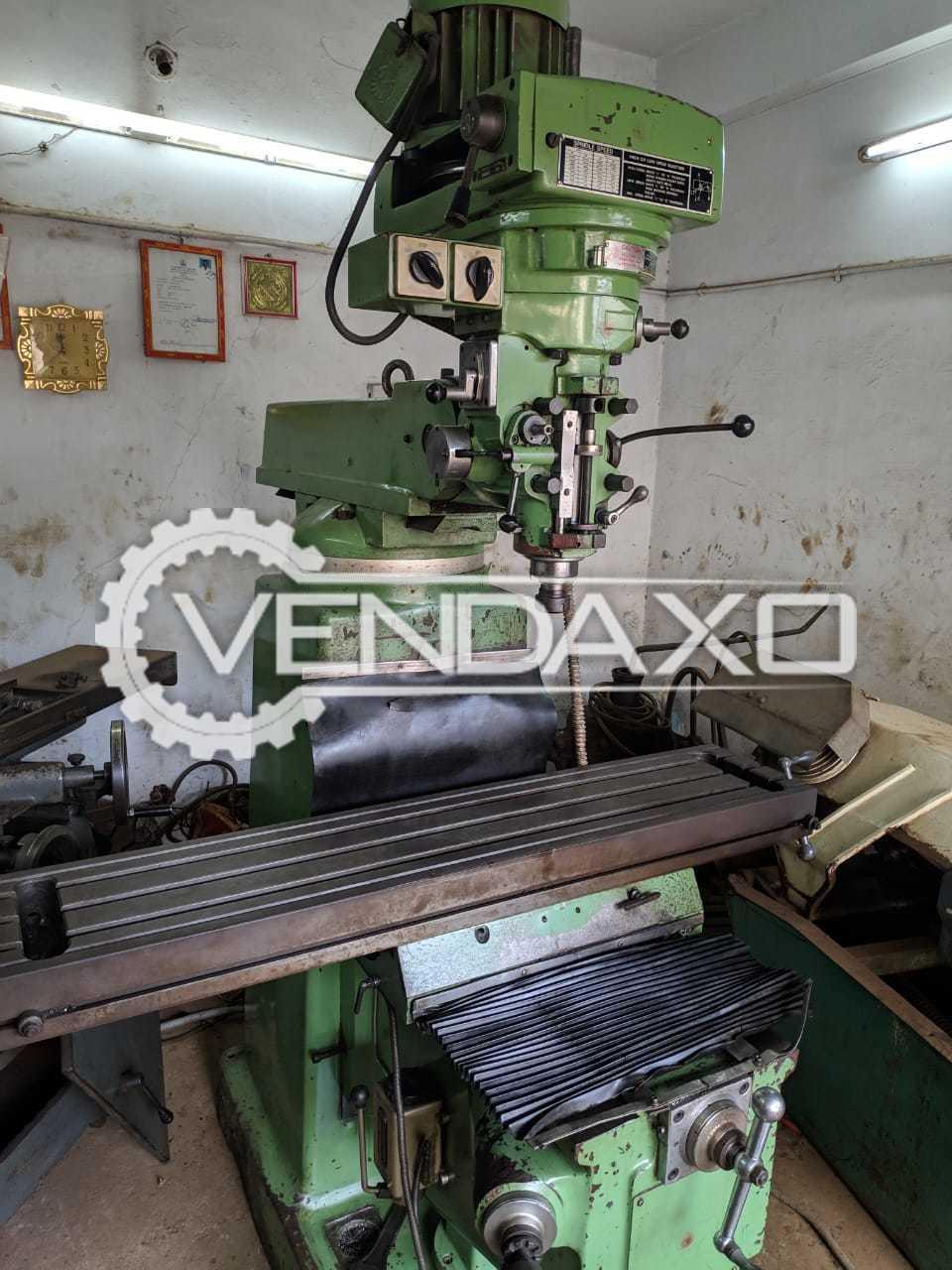 Manford 4KS Milling Machine - Table Size - 1270 x 254 mm
