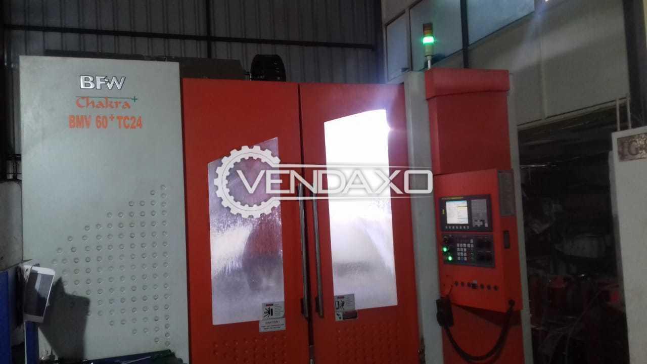 BFW Chakra BMV60 TC24+ CNC Vertical Machining Center - VMC - Table Size - 1250 x 600 mm
