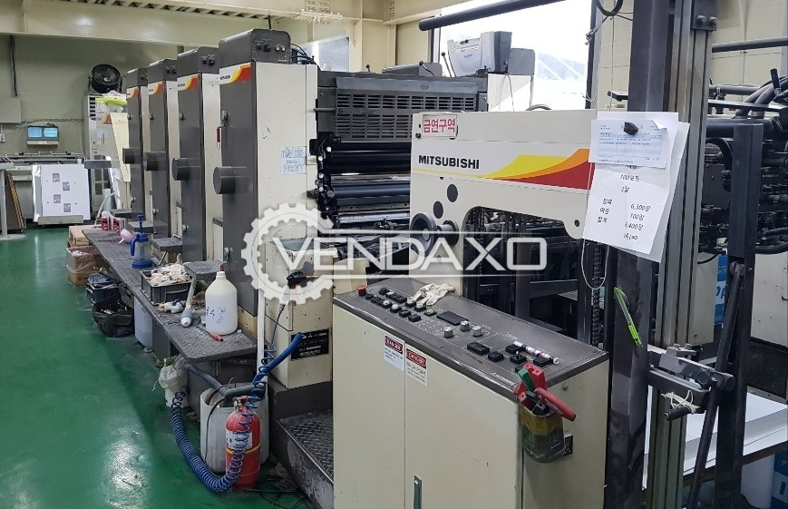 Mitsubishi 2F-4 Offset Printing Machine - 22 x 32 Inch, 4 Color