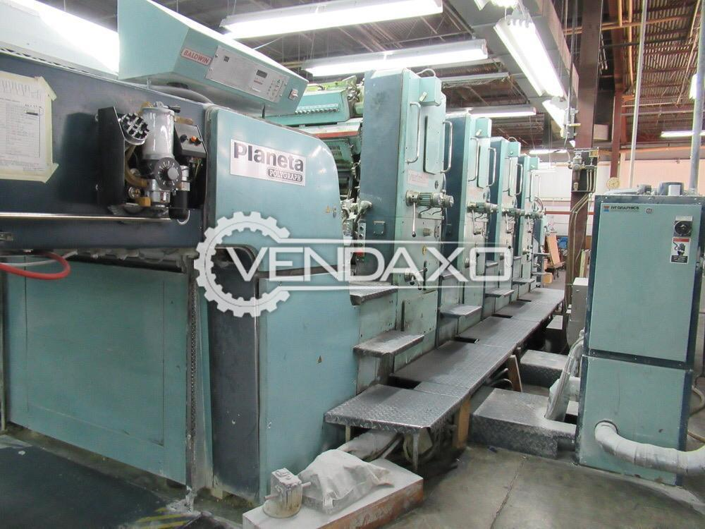 Planeta Varimat V-47-22 Offset Printing Machine - 40 x 56 Inch, 4 Color