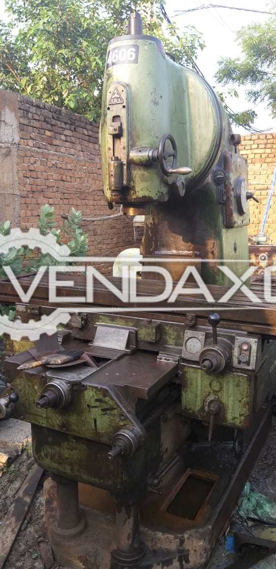 TOS Milling Machine - Table Size - 2000 x 450 mm