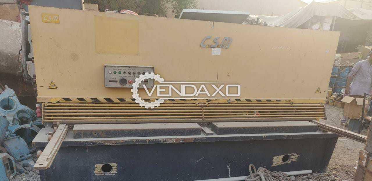 CSM QC12Y Hydraulic Swing Beam Shearing Machine - 3200 x 10 mm
