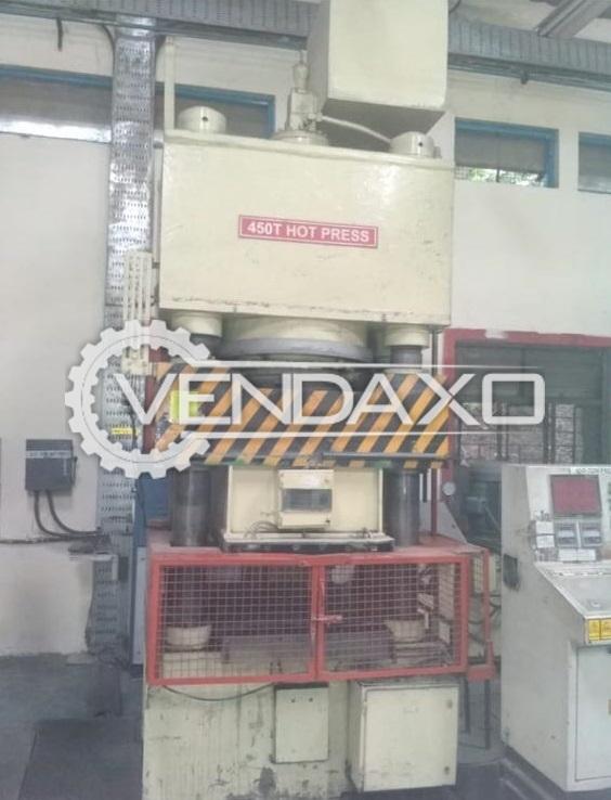 For Sale Used Hot Press Machine - 450 Ton