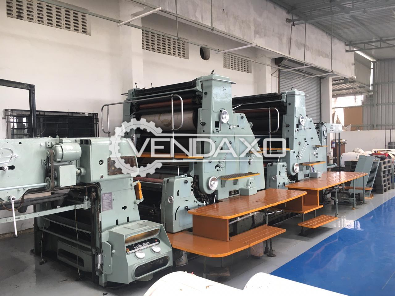 Man Roland RVU6 Offset Printing Machine - 40 x 56 Inch, 4 Color