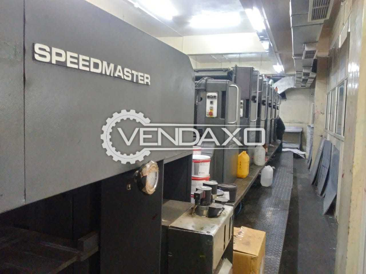 Heidelberg SM 102-5P+L Offset Printing Machine - 28 x 40 Inch, 5 Color