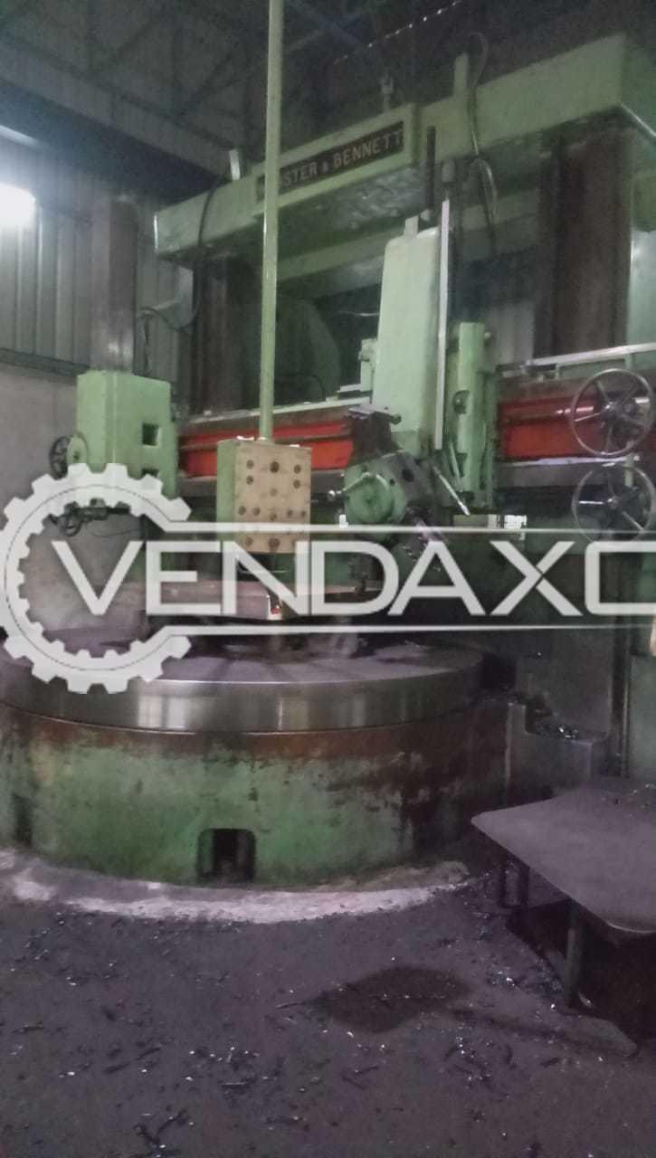 Webster & Bennett Vertical Turret Lathe Machine - VTL - 3 Meter x 1800 mm