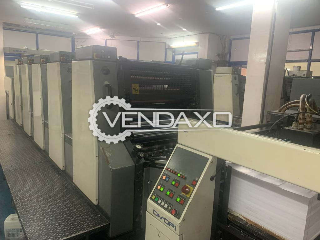 Komori Lithrone 526 Offset Printing Machine - 20 x 26 Inch, 5 Color