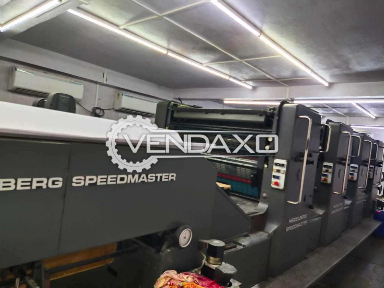 Heidelberg SM 102V Offset Printing Machine - 28 x 40 Inch, 4 Color