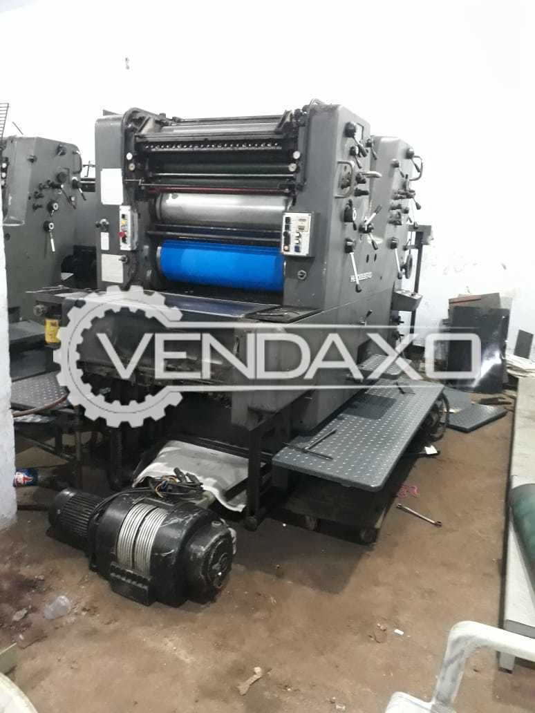 Heidelberg SORMZ 519 Offset Printing Machine - 20 x 29 Inch, 2 Color