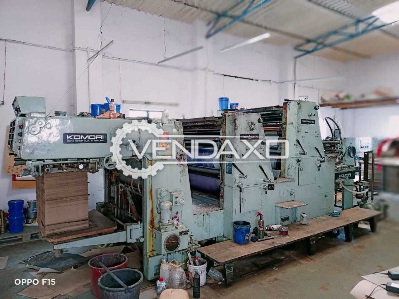 Komori NewKony Offset Printing Machine - 25 X 38 Inch, 2 Color