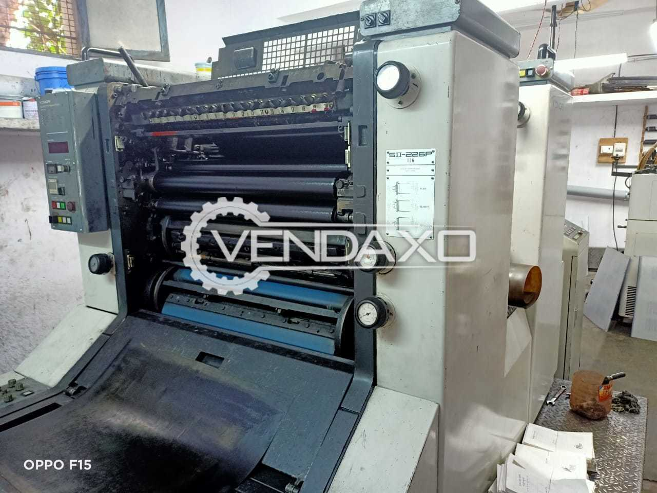 Komori SII 226P Offset Printing Machine - 19 x 26 Inch, 2 Color