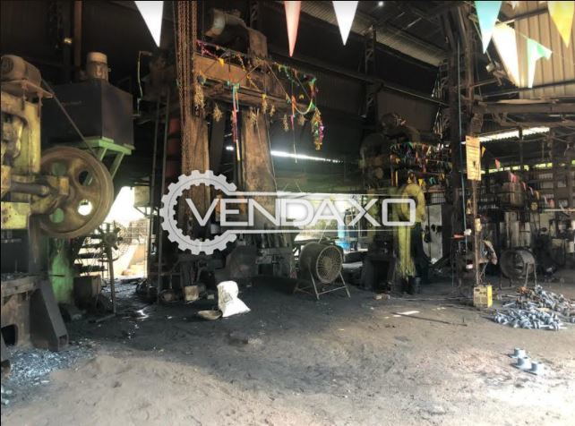 For Sale Used Lathe Machine - 29 Inch x 21 Feet & Complete Setup OF Die Forging Plant - 600 Ton