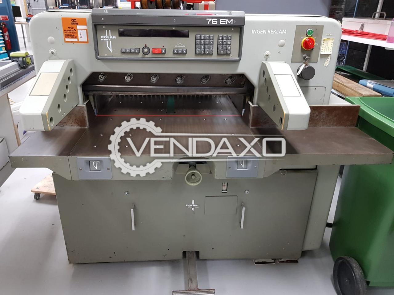Polar Mohr 76 EM Paper Cutting Machine - 30 Inch