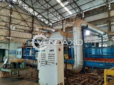 For Sale Biotechno S.P.A (Italy Make) Imported Heavy Duty Conveyorised Industrial Annealing Furnace - 1.5 Ton Per Hour