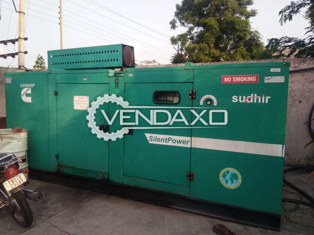 Cummins Sudhir CS160D5P Diesel Generator - 160 Kva