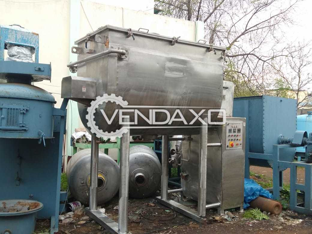 For Sale Used Vacuum Paddle Mixer - 3000 Liter