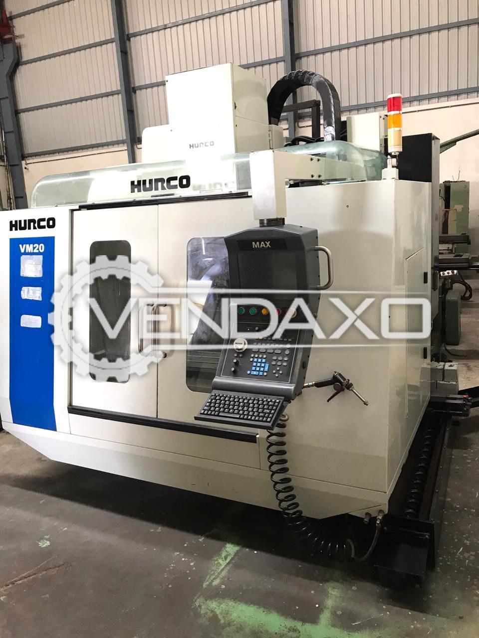 Hurco VM 20 CNC Vertical Machining Center VMC - Table Size - 1150 x 500 mm