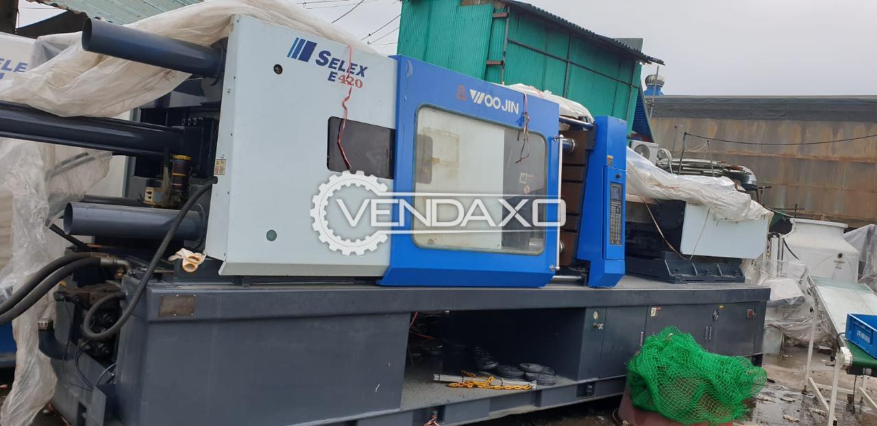 Woojin Selex EM-450 Injection Moulding Machine - 450 Ton