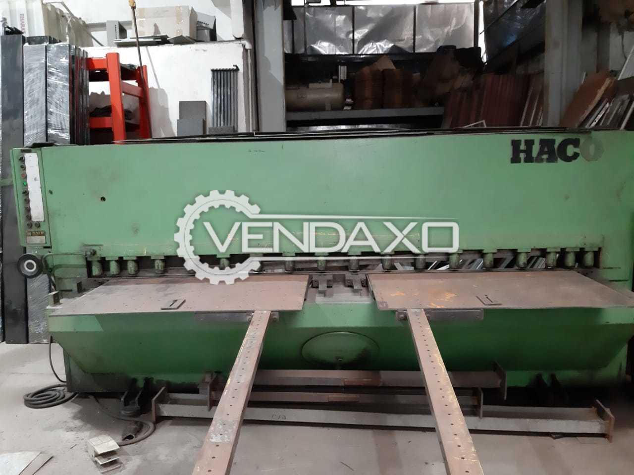 Haco Hydraulic Pkte Shearing Machine - 3000 x 6 mm