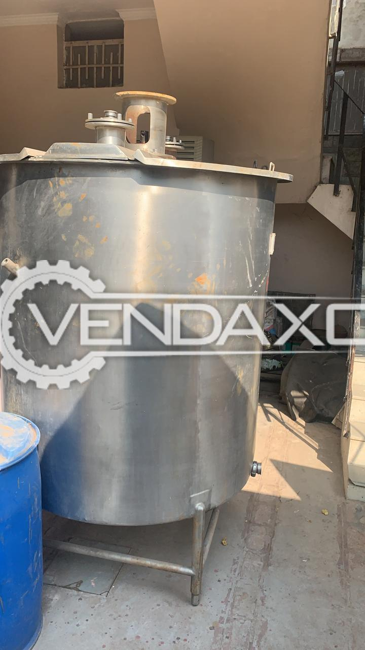 For Sale Used Mixing Vessel - 2000 Liter