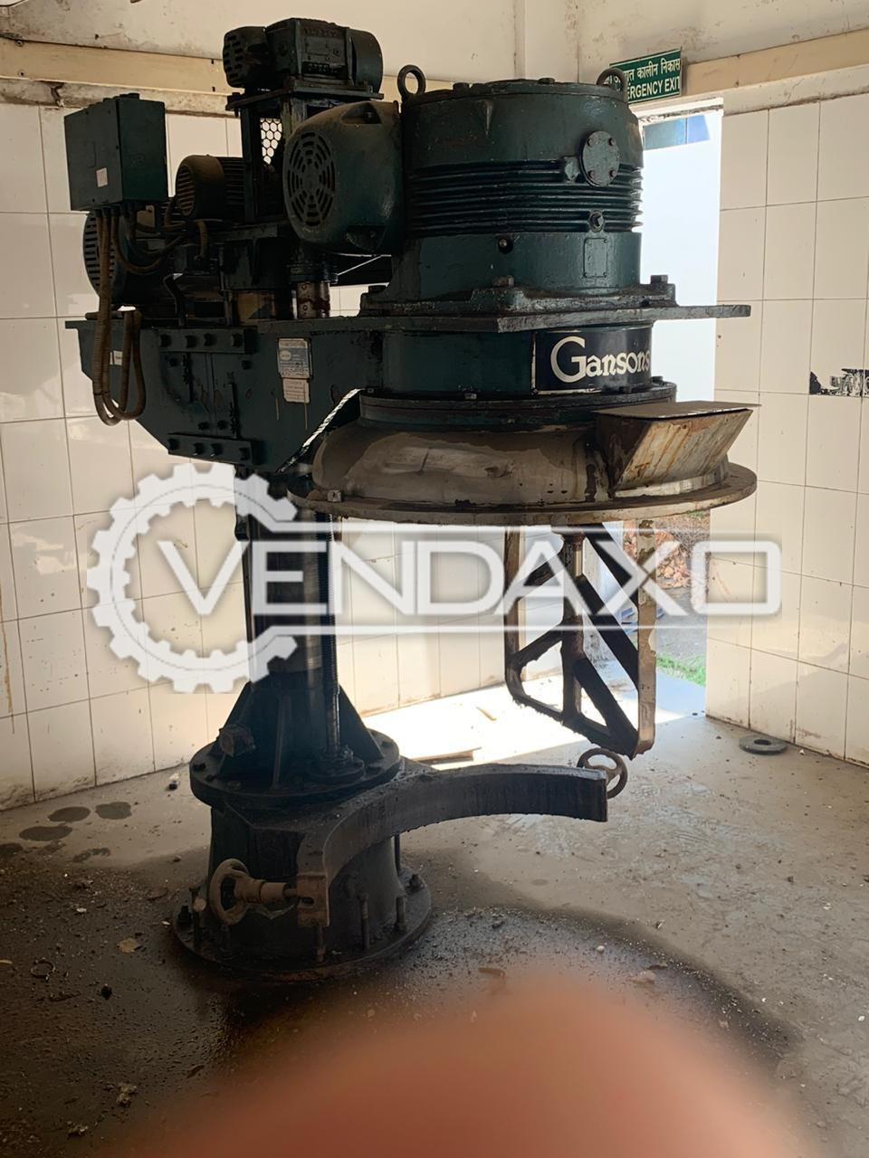 Gansons Planetary Mixer - 250 Liter With Panel & Two Bowl