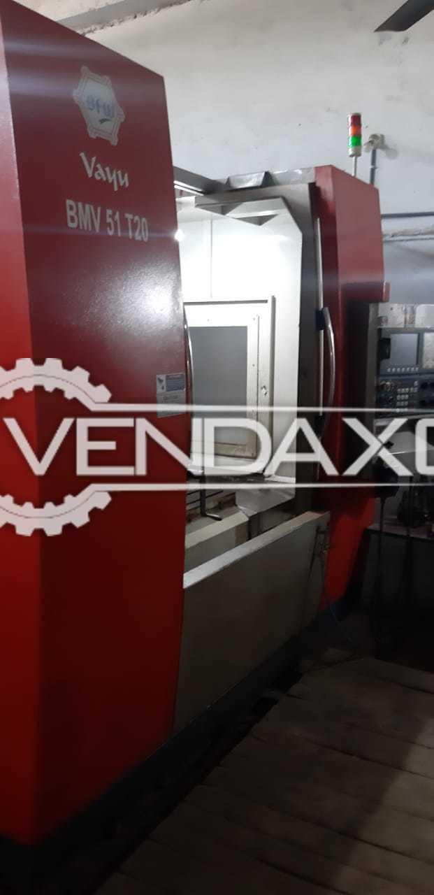 BFW Vayu BMV51 T20 CNC Vertical Machining Center VMC - Table Size - 1200 x 550 mm