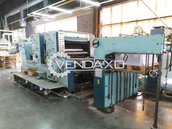 Planeta P24-81 Super Variant Offset Printing Machine - 28 x 40 Inch, 2 Color