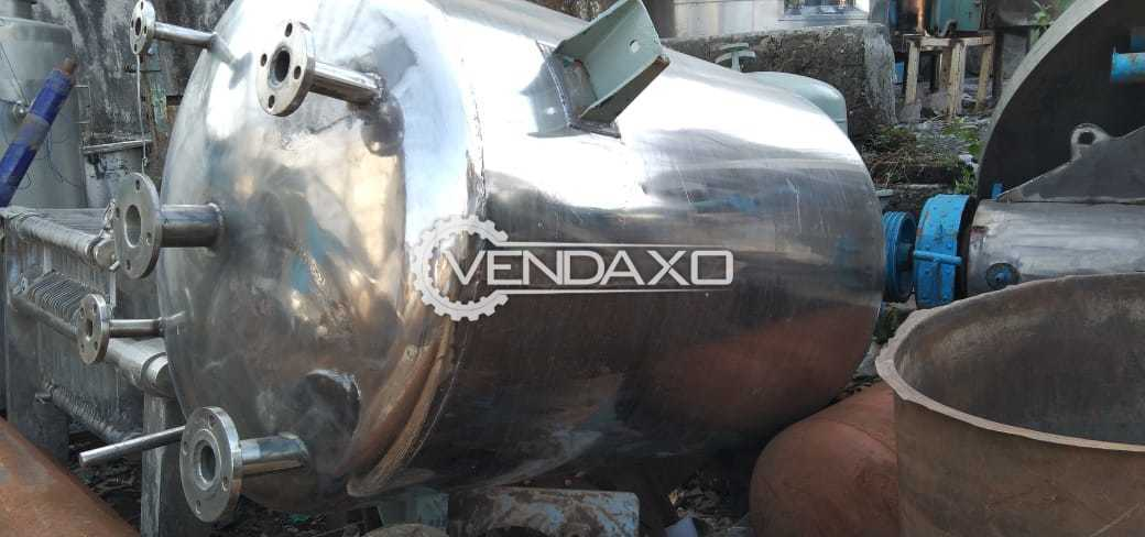 For Sale Used SS 304 Vacuum Tank - 1 KL