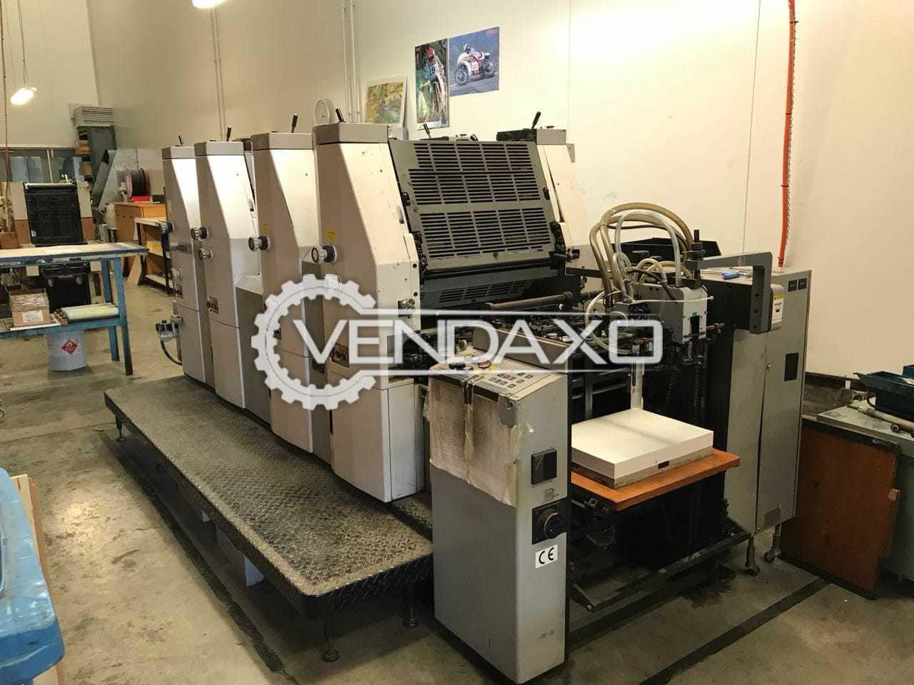 Hamada 452A Offset Printing Machine - 15 X 20 Inch, 4 Color