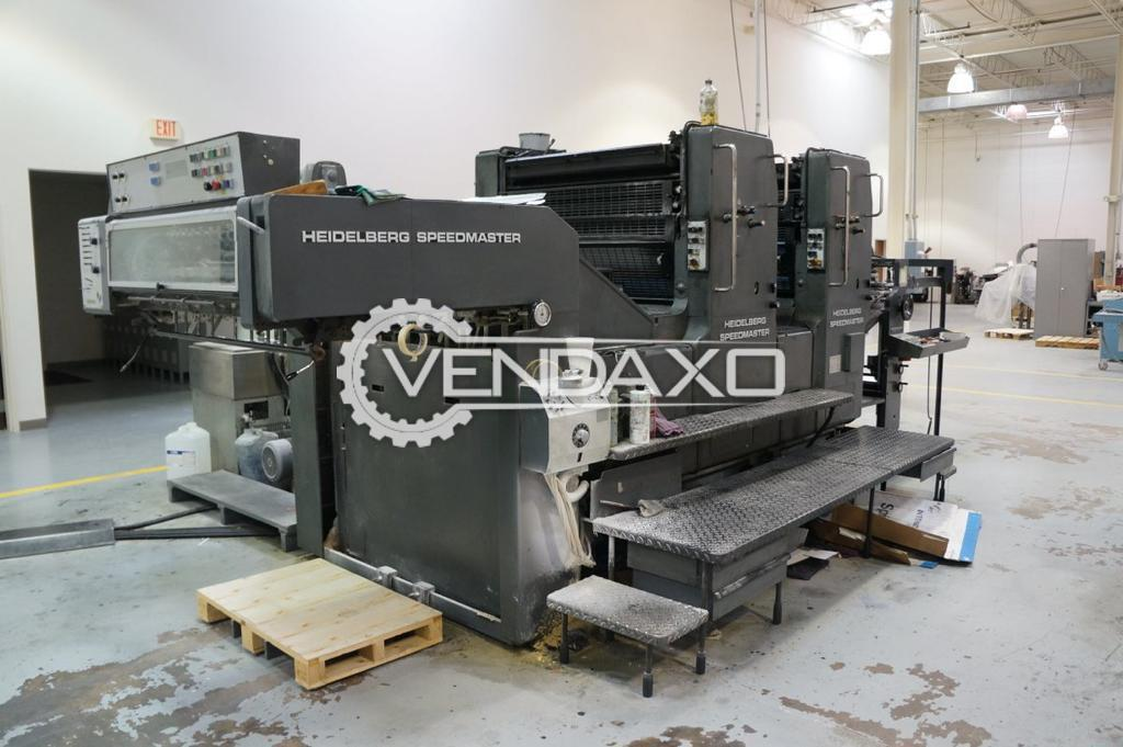 Heidelberg SM 102-ZP Offset Printing Machine - 28 x 40 Inch, 2 Color