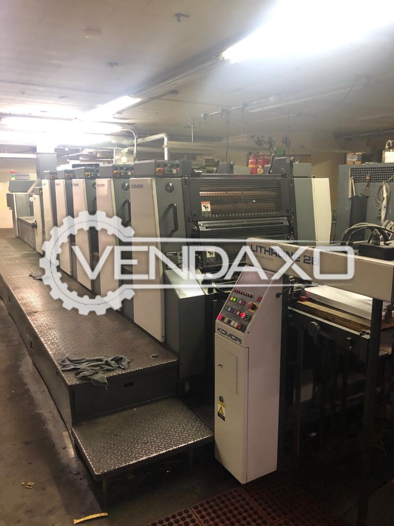 Komori Lithrone 528 Offset Printing Machine - 20 x 28 Inch, 5 Color