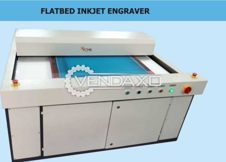 For Sale Used Flatbed Inkjet Engraver Machine - Frame Size - 1850 x 1850 mm