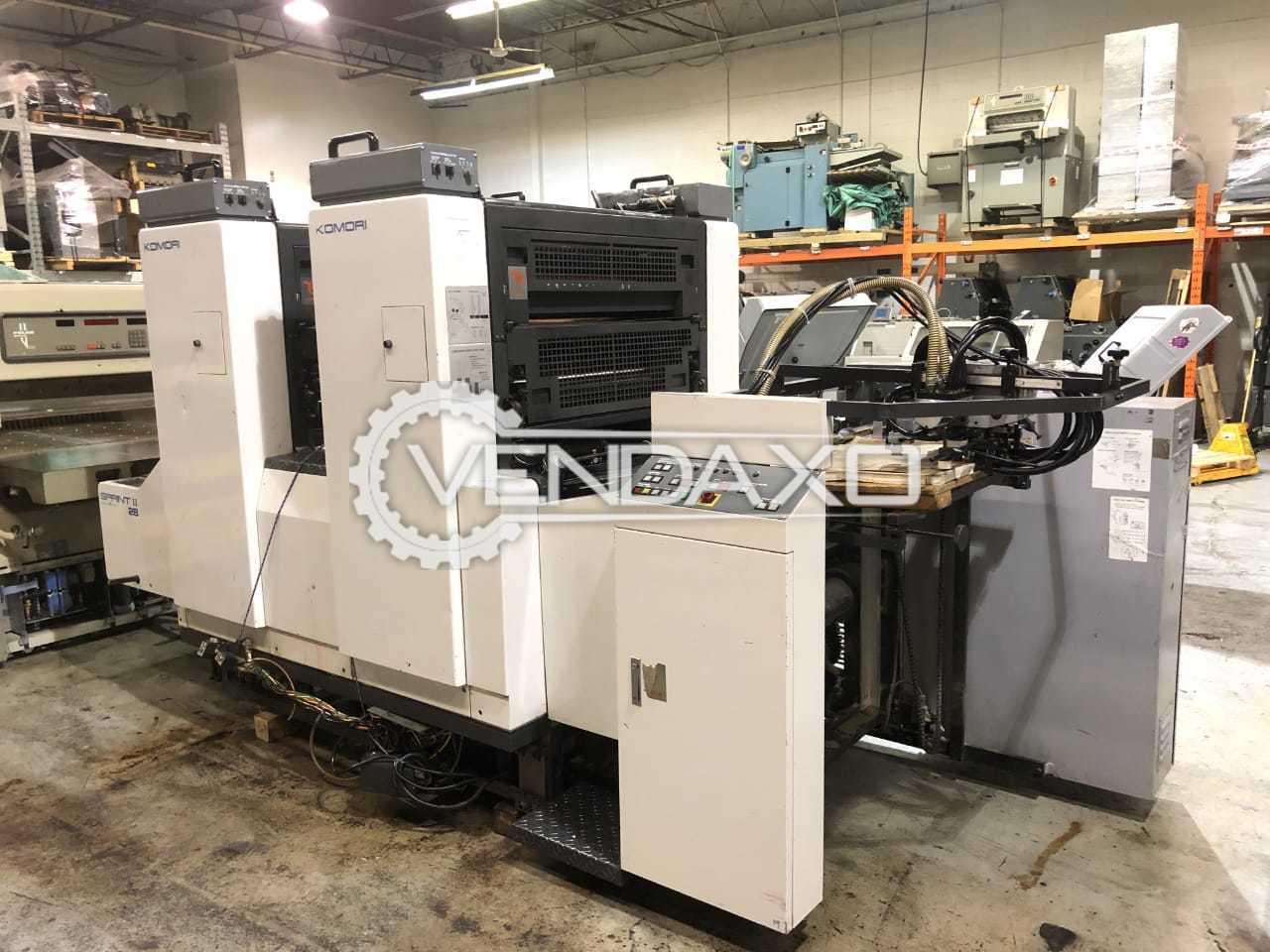 Komori Sprint 228P Offset Printing Machine - 20 x 28 Inch, 2 Color