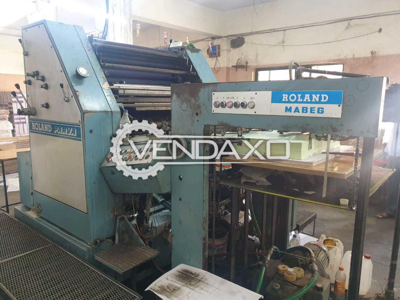 Roland Parva Offset Printing Machine - 22 x 32 Inch, Single Color
