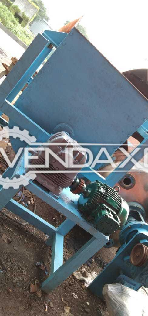 SS 316 Ribbon Blender - 1500 Liter With Elecon Gearbox & Crompton FLP Motor