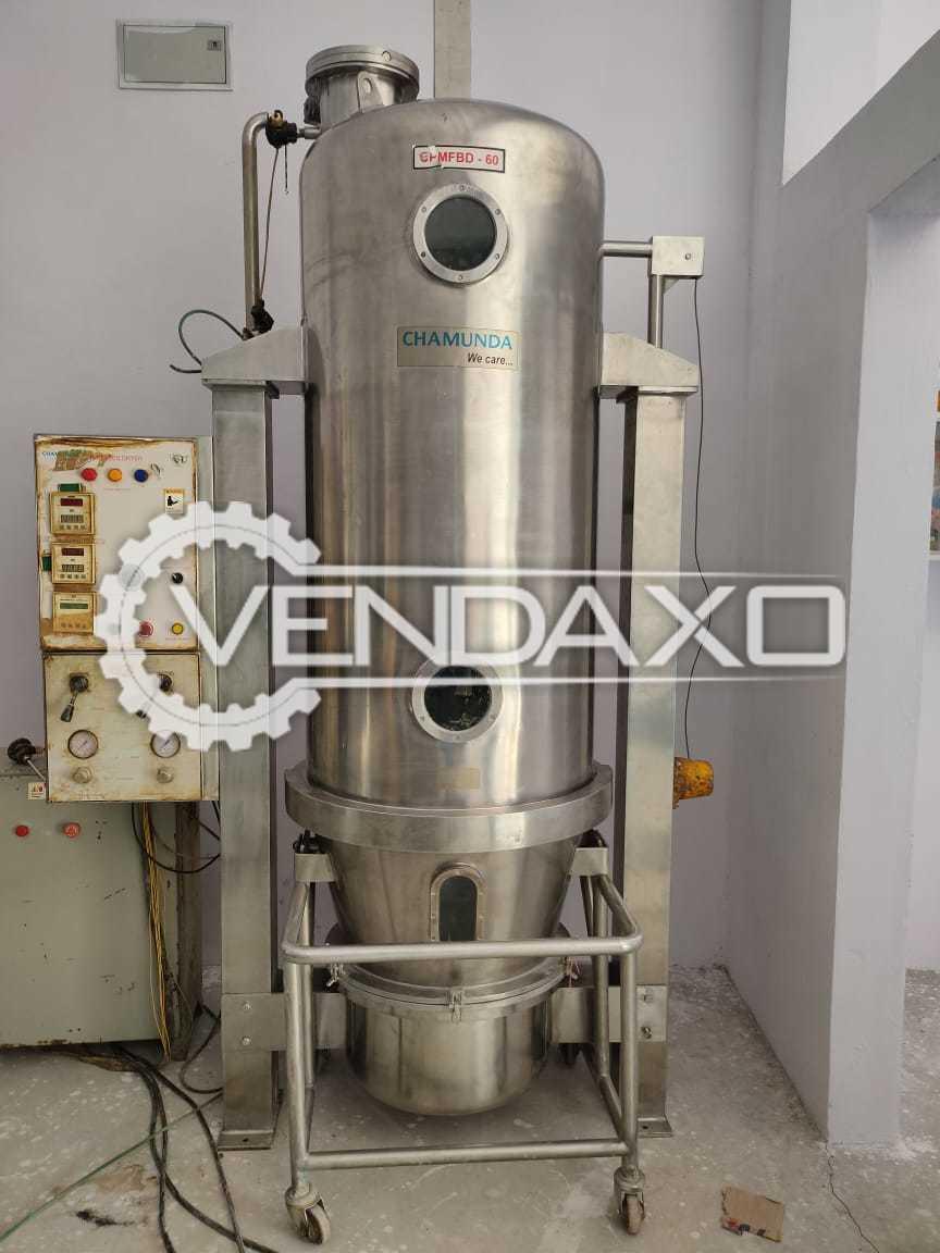 Chamunda GMP Fluid Bed Dryer (FBD) - 60 Kg