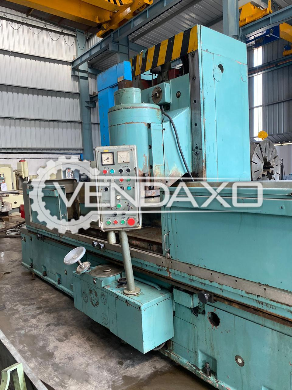 TOS BPV 400/2000 Cylindrical Grinding Machine - Magnet Size - 2000 X 400 mm