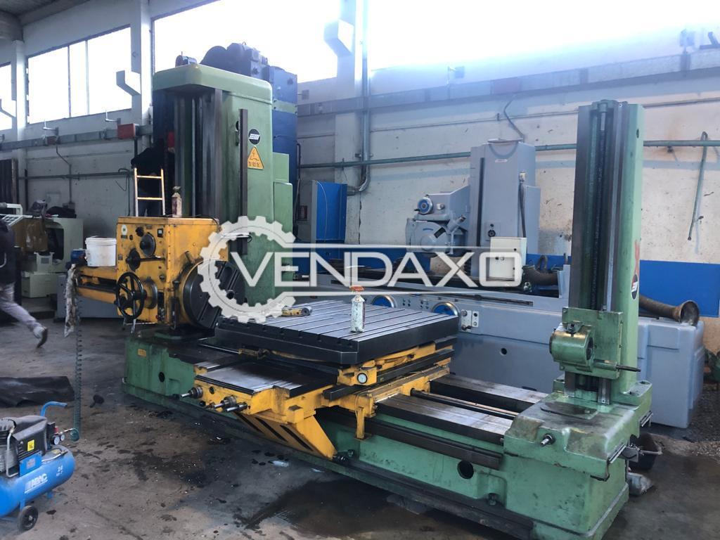 TOS H100A Horizontal Boring Machine - Table Size - 1250 x 1250 mm