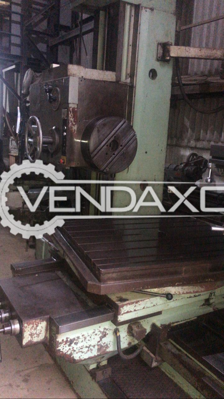 TOS W9A Boring Machine - Table Size - 1120 x 1000 mm