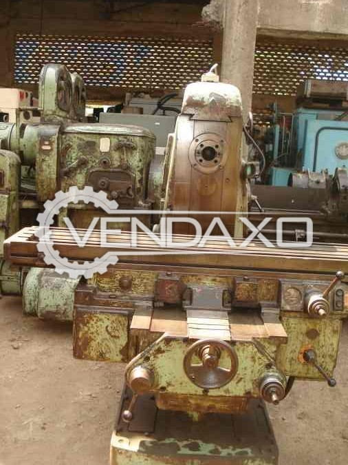 TOS FH4 Milling Machine - Table Size - 1500 X 300 mm