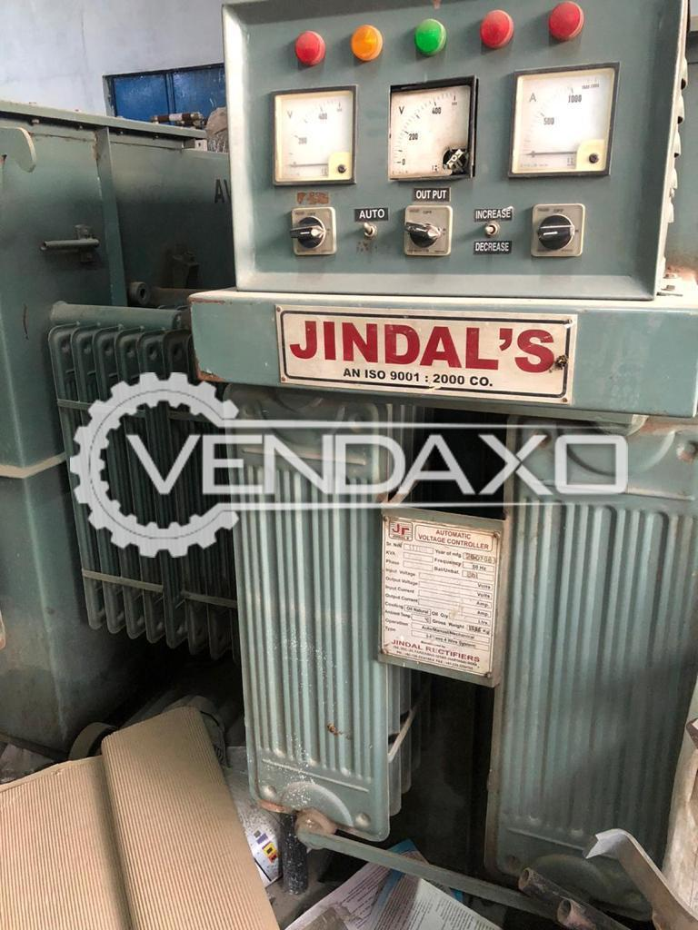Jindal Rectifiers Automatic Servo Stabilizers - 630 Kva, 2007 Model