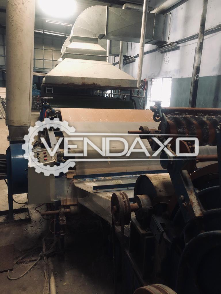 Available For Sale Used Nonwoven Embroidery Backing, Coating, Open Fiber, Boiler Division