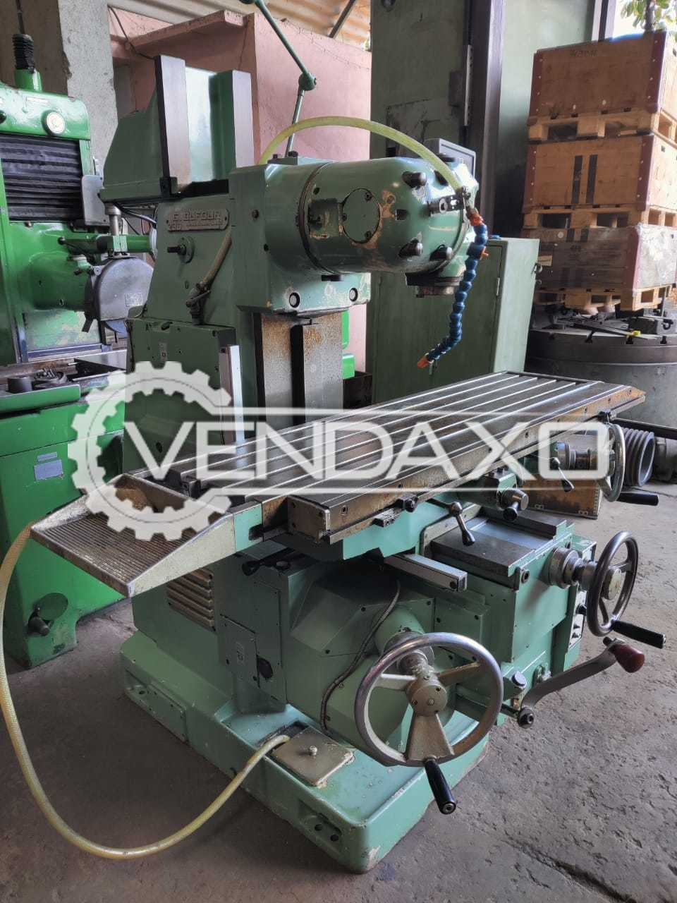 Dufour 230 Milling Machine - Table Size - 1300 x 325 mm
